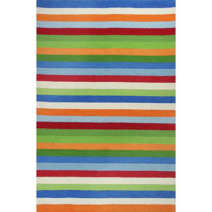 Kidding Around Cool Stripes Rectangular: 5 Ft. x 7 Ft. 6 In. Rug