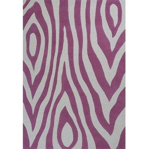 Kidding Around Pink Wild Side Rectangular: 3 Ft. 3 In. x 5 Ft. 3 In. Rug