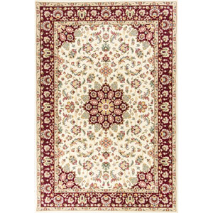 Kingston Ivory and Red Rectangular: 2 Ft. 2-Inch x 3 Ft. 3-Inch Rug