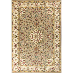 Kingston Beige and Ivory Rectangular: 2 Ft. 2-Inch x 3 Ft. 3-Inch Rug
