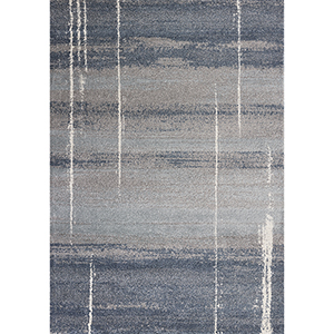 Landscapes Blue Contempo Rectangular: 5 Ft. 3 In. X 7 Ft. 7 In. Rug