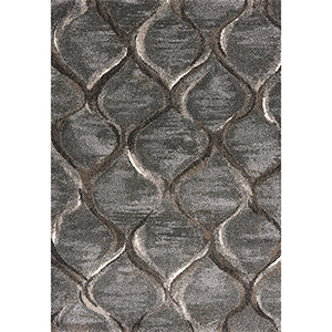 Landscapes Charcoal Groove Rectangular: 3 Ft. 3 In. X 5 Ft. 3 In. Rug