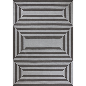 Libby Langdon Hamptons Charcoal Emerson Rectangular: 21 In. x 34 In. Rug