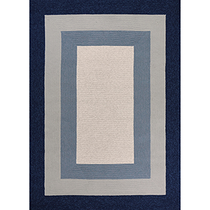 Libby Langdon Hamptons Slate and Navy Highview Rectangular: 21 In. x 34 In. Rug