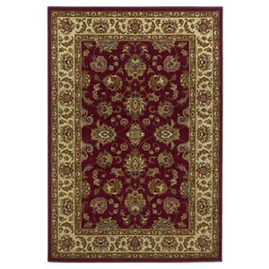 Lifestyles Red/Ivory Kashan Rectangular: 5 ft. 3 in. x 7 ft. 7 in. Rug