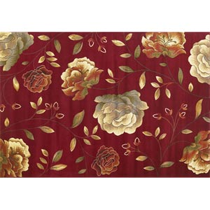 Lifestyles Red Capri Rectangular: 5 ft. 3 in. x 7 ft. 7 in. Rug