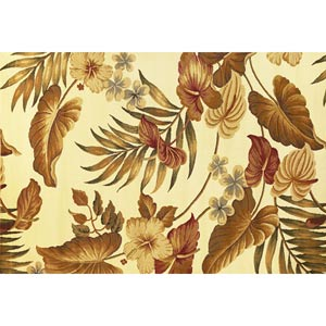 Lifestyles Ivory Tropical Rectangular: 5 ft. 3 in. x 7 ft. 7 in. Rug