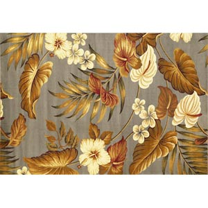 Lifestyles Slate Tropical Rectangular: 5 ft. 3 in. x 7 ft. 7 in. Rug