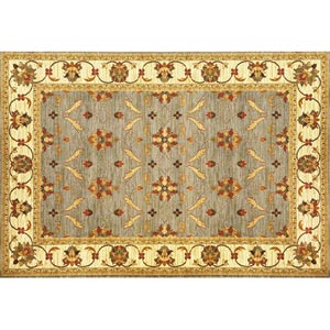 Lifestyles Slate/Ivory Agra Rectangular: 5 ft. 3 in. x 7 ft. 7 in. Rug