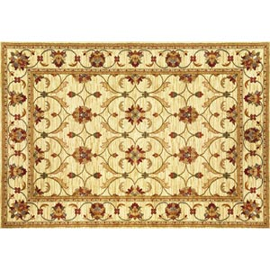 Lifestyles Ivory Agra Rectangular: 2 ft. 7 in. x 4 ft. 1 in. Rug