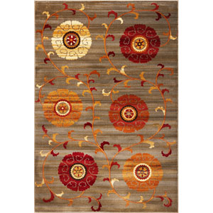 Lifestyles Slate Whimsy Rectangular: 5 Ft. 3 In. x 7 Ft. 7 In.  Rug