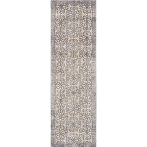 Libby Langdon Winston Greige Looking Glass Runner: 2 Ft. 2 In. x 7 Ft. 6 In. Rug