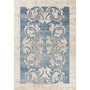 Libby Langdon Winston Teal Watercolor Batik Rectangular: 3 Ft. 3 In. x 4 Ft. 11 In. Rug