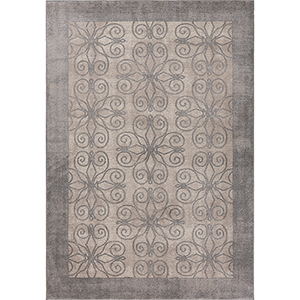 Libby Langdon Winston Greige Looking Glass Rectangular: 3 Ft. 3 In. x 4 Ft. 11 In. Rug