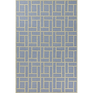 Libby Langdon Soho Ice Blue Brick By Brick Rectangular: 7 Ft. 6 In. x 9 Ft. 6 In. Rug