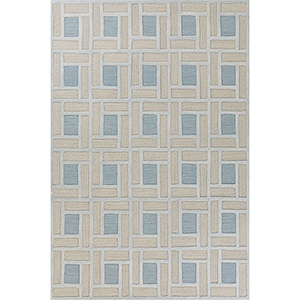 Libby Langdon Soho Spa and Pumice Brick By Brick Rectangular: 3 Ft. 3 In. x 5 Ft. 3 In. Rug