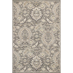 Lucia Gray Rectangular: 23-Inch x 45-Inch Rug
