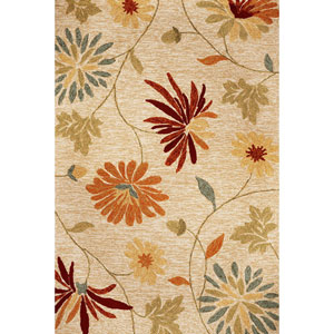 Meridian Beige Sofia Rectangular: 5 Ft. x 7 Ft. 6 In.  Rug