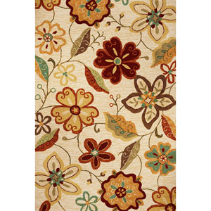 Meridian Ivory Serafina Rectangular: 5 Ft. x 7 Ft. 6 In.  Rug