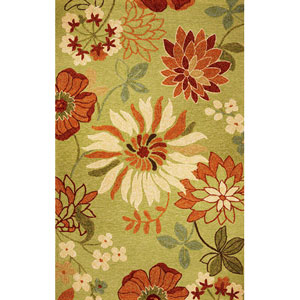 Meridian Pistachio Bella Rectangular: 5 Ft. x 7 Ft. 6 In.  Rug