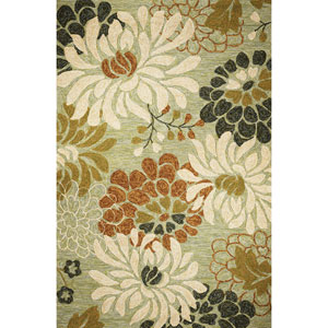 Meridian Seafoam Silhouette Rectangular: 5 Ft. x 7 Ft. 6 In.  Rug