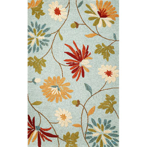 Meridian Blue Sofia Rectangular: 5 Ft. x 7 Ft. 6 In.  Rug