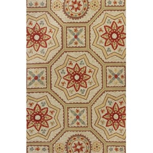 Meridian Sand Arabesque Round: 7 Ft. 6 In. Rug