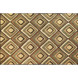 Milan Beige Diamonds Rectangular: 5 ft. x 7 ft. 6 in. Rug