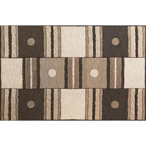 Milan Ivory/Mocha Dominoes Rectangular: 5 ft. x 7 ft. 6 in. Rug