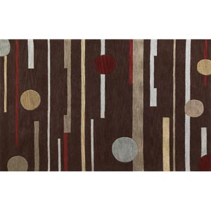 Milan Brown Horizons Rectangular: 5 ft. x 7 ft. 6 in. Rug