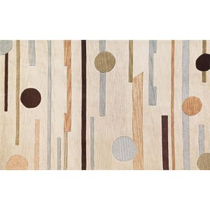Milan Beige Horizons Rectangular: 5 ft. x 7 ft. 6 in. Rug
