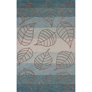 Milan Ocean Layers Rectangular: 3 Ft. 3 In. x 5 Ft. 3 In. Rug