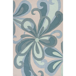 Milan Seafoam Groove Rectangular: 3 Ft. 3 In. x 5 Ft. 3 In. Rug