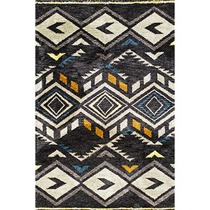 Mission Midnight Rustico Rectangular: 3 Ft. 3 In. x 5 Ft. 3 In. Rug