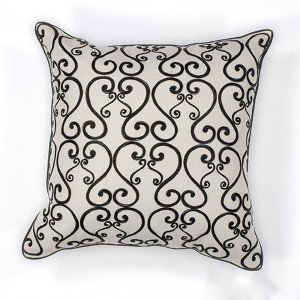 White and Black Luminous 18-Inch Decorative Pillow
