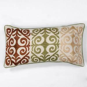 Multicolor Damask 12 x 20-Inch Rectangular Decorative Pillow