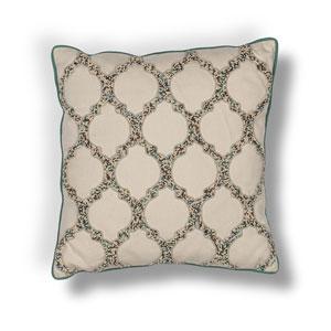 Beige 18-Inch Throw Pillow