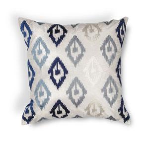Blue 20-Inch Throw Pillow