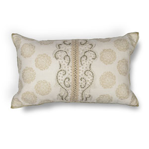 Ivory 12 x 20-Inch Throw Pillow
