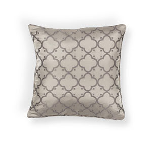 Taupe 20-Inch Throw Pillow