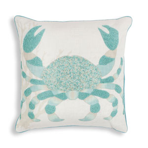 Aqua Crab 18 In. Pillow