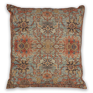 Teal and Coral Zena 18 In. Pillow