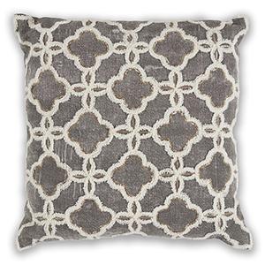 Grey Arabesque 18 In. Pillow