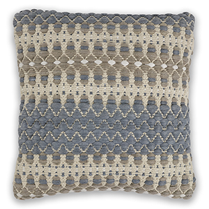Blue and Beige Laguna 18 In. Pillow