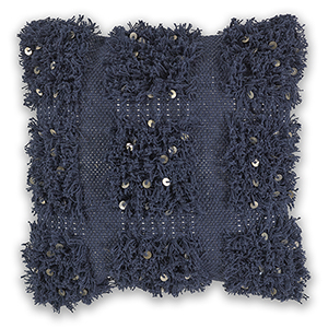 Navy Boho 18 In. Pillow