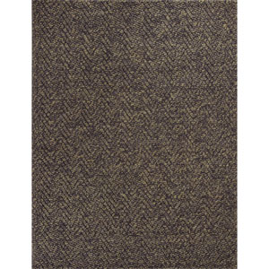Porto Mocha Heather Herringbone Rectangular: 8 Ft. x 11 Ft. Rug