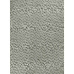 Porto Grey Heather Herringbone Rectangular: 8 Ft. x 11 Ft. Rug