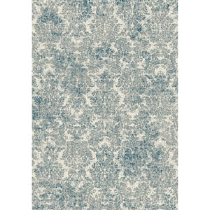 Provence Ivory and Blue Rectangular: 2 Ft. 2-Inch x 3 Ft. 7-Inch