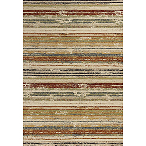 Reflections Beige Landscapes Rectangular: 2 Ft. 7 In. x 4 Ft. 11 In. Rug