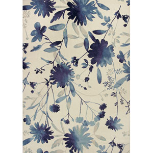 Reflections Blue Watercolors Rectangular: 5 Ft. 3 In. x 7 Ft. 7 In. Rug
